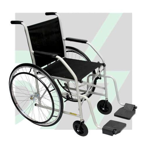Cadeira De Rodas Até 85Kg Pneu Maciço