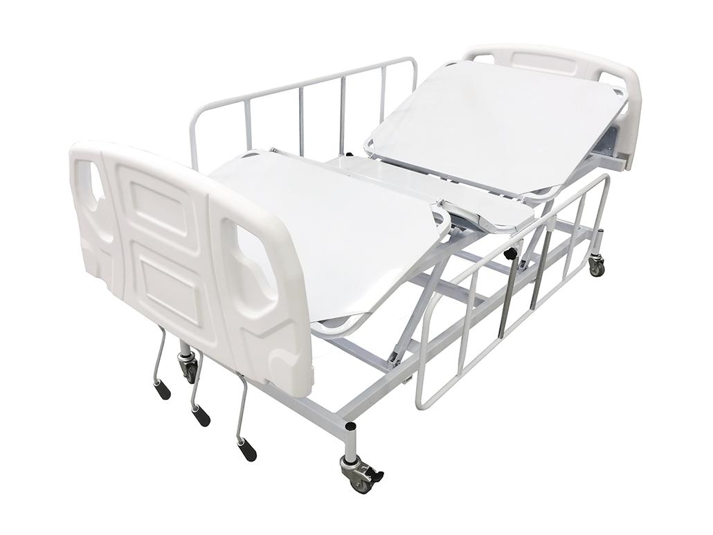Cama Hospitalar Manual Com Elevação De Leito E Cabeceira ABS PRATICE