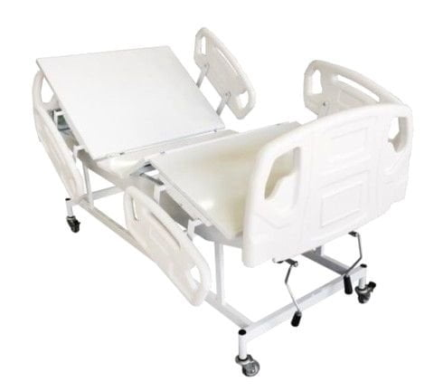 Cama Hospitalar Manual Com Grades E Cabeceira ABS PREMIUM