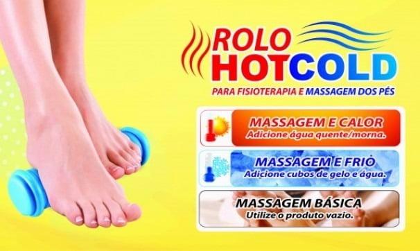 Rolo Hotcold Para Fisioterapia E Massagem Dos Pés