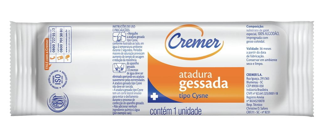 Atadura Gessada Cremer 20Cm