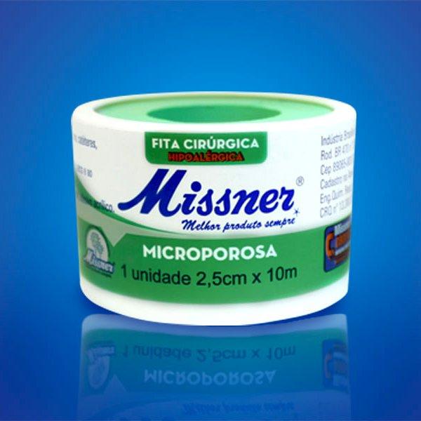 Fita Microporosa Missner 2,5Cm X 10 M