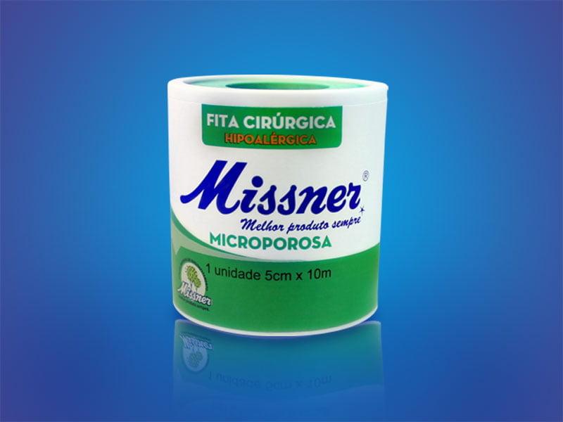 Fita Microporosa Missner 5 Cm X 10 M
