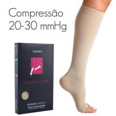 MEIA SIGVARIS 283 ALGODÃO SUPER PANTURRILHA - 30-40 mmHg