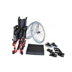 Cadeira Rodas Alumínio Avd 120Kg  44 Cm - Ortobras